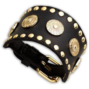 Versace x H&M Black Leather Bracelet Unisex NEW